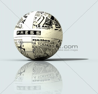 press globe -digital artwork