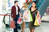 Carrying shopping bags