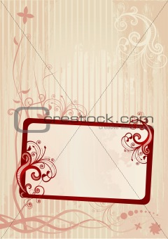 Vector illustration of a floral frame