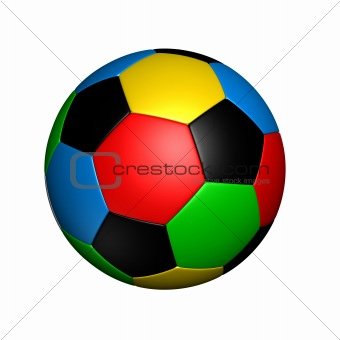 olympic colored soccer ball