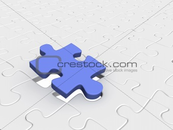 Abstract background from parts 3d  puzzle