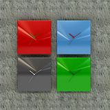 3d rendering of four clock wall