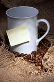 Cup with sticky note  (RS)