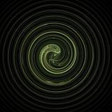 Fractal 31 green spiral