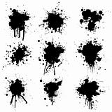 collection ink splat