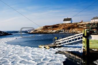 Fishermans cove on Atlantic coast
