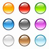 Glossy round button icons