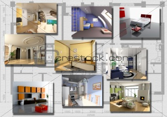 modern interior image set