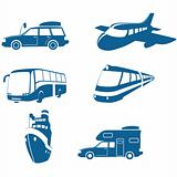 Transport &amp; Travel icons