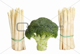 Asparagus and broccoli