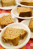 Bread on plates