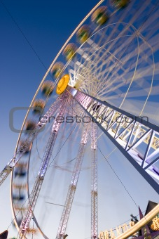 Big wheel on a fun fair