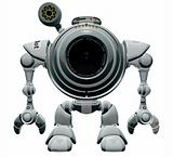 Robot Web Cam Standing Straight