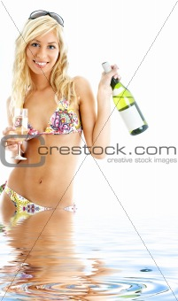 beach party girl in water