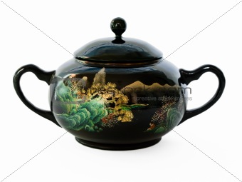 Ancient China sugar bowl