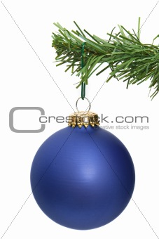 blue ornament hanging