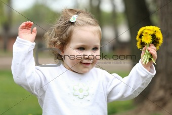 pretty girl with flower