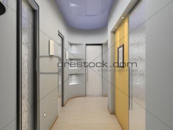 modern vestibule