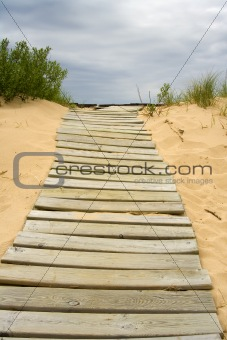 boardwalk in the sand