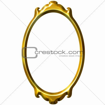 3D Golden Frame