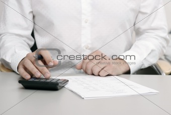 Accountant doing a tax return