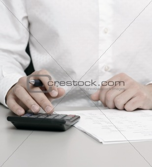Accountant doing a tax return