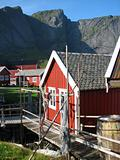 Fishermen&#39;s cabin on the Lofoten Islands