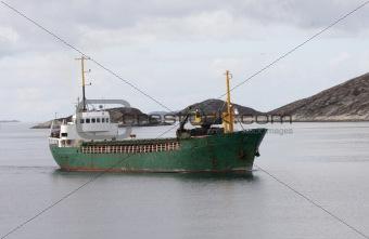 Small Norwegian cargo boat.
