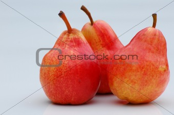 three delicious healthy pears