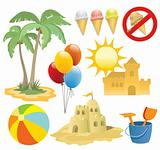 Summer vacation, design elements