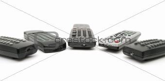 Five remote controls