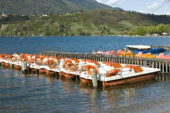 Catamarans on Caldonazzo lake