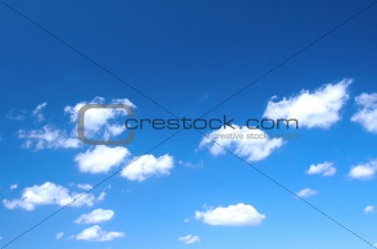 bright summer sky