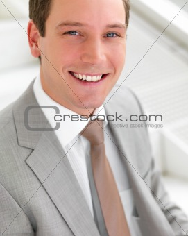 Successful smiling young business man