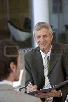 Business consultant smiling