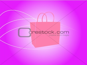 A Vector Illustration of a Shopping Bag