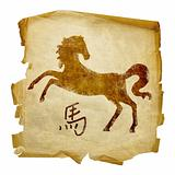 Horse Zodiac icon, isolated on white background.