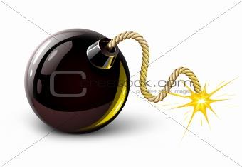 vector black bomb burning