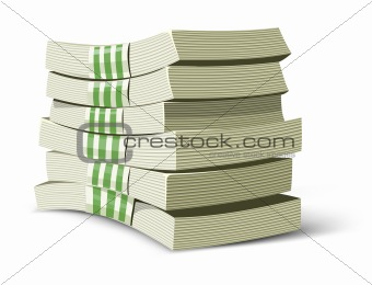 money packs vector illustration for banking business