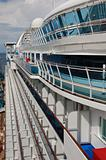 Cruise ship side view