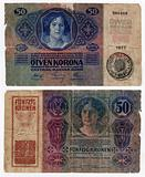 vintage hungarian banknote from 1914
