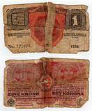 vintage hungarian banknote from 1916