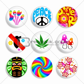 Hippie badges