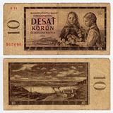 vintage czechoslovakian banknote from 1960