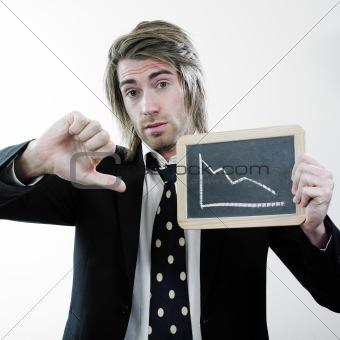 Businessman and descending stats