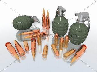 grenades and bullets