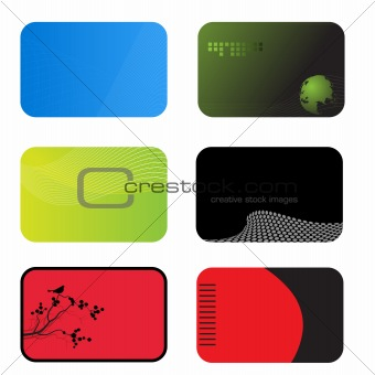 Set of modern business calling cards