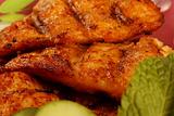 close up of grilled hamour fish