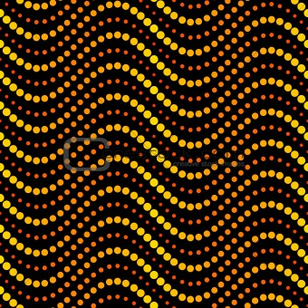Seamless circle waves pattern