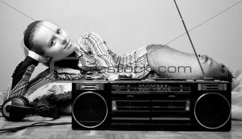 listening radio
